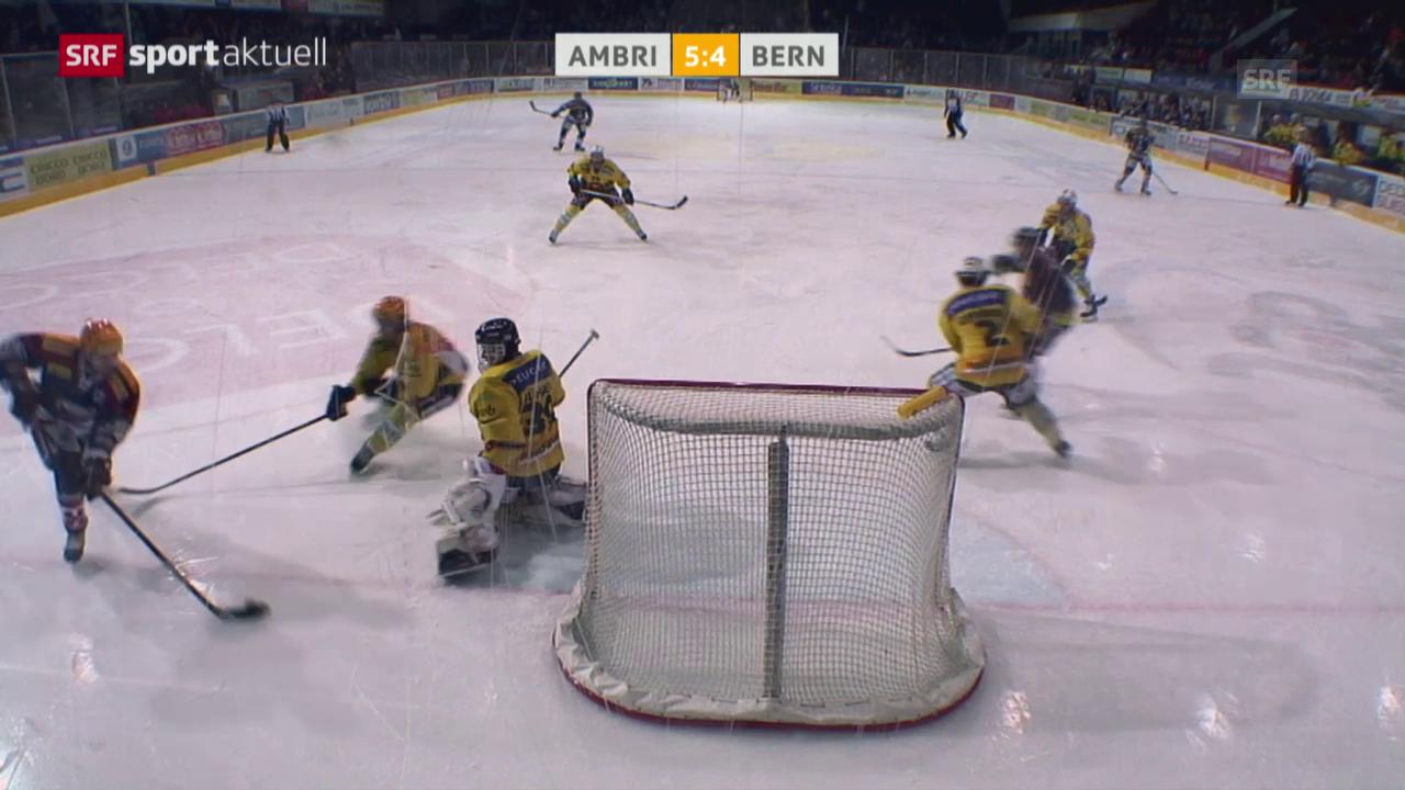 Eishockey: Alexandre Giroux' Zaubertor gegen Bern («sportaktuell»)