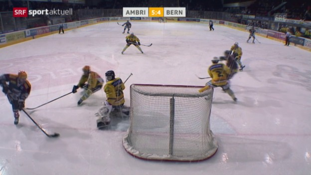 Video «Eishockey: Alexandre Giroux' Zaubertor gegen Bern («sportaktuell»)» abspielen