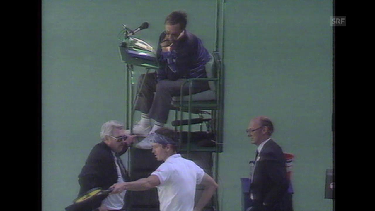 John McEnroe wird disqualifiziert