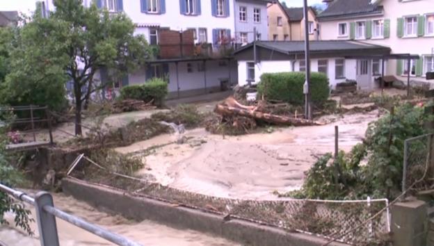 Video «Aufräumarbeiten in Allstätten» abspielen