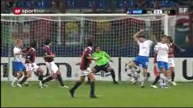 Video «CL: Milan - FCZ (Highlights)» abspielen