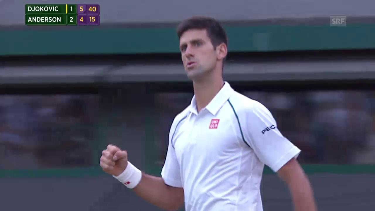 Tennis: Wimbledon, Djokovic - Anderson