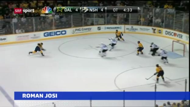 Video «Eishockey: Roman Josi mit 4 Punkten» abspielen