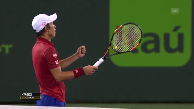 Video «Djokovic und Nishikori gewinnen ihre Halbfinals» abspielen