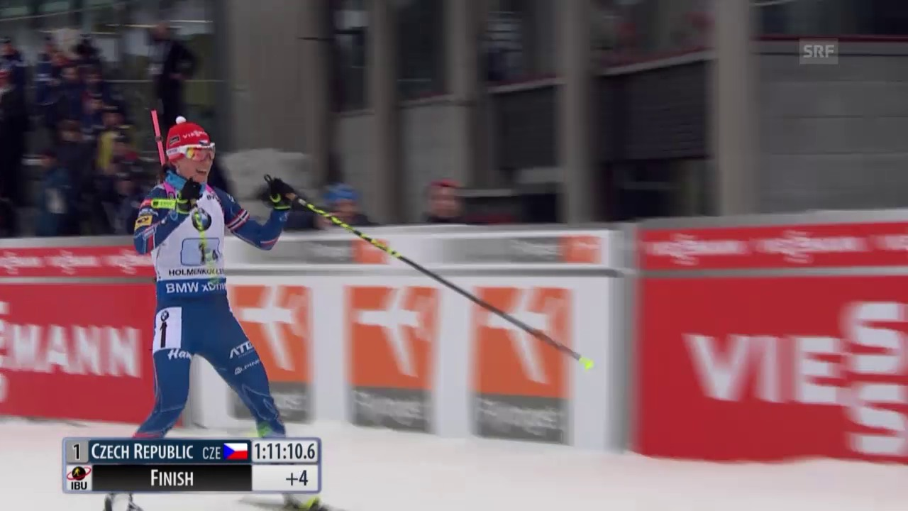 Biathlon: Staffel Frauen in Oslo, die Schlussphase