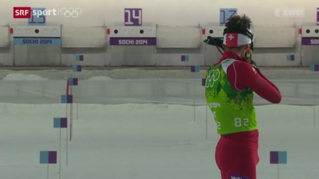 Video «Biathlon: 4x7.5 km Staffel der Männer» abspielen