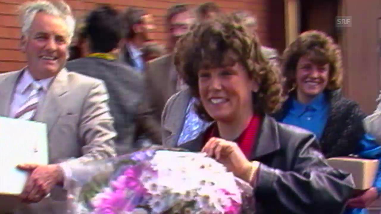 Empfang für Maria Walliser im März 1986