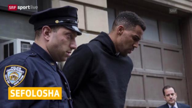 Video «Basketball: Thabo Sefolosha in New York verhaftet» abspielen