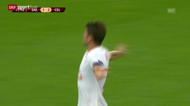 Video «Fussball: EL, Salzburg-Celtic, Tor Soriano» abspielen