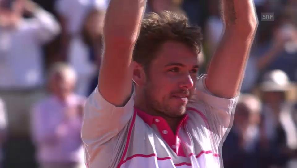 So feiert Stan Wawrinka seinen French-Open-Sieg