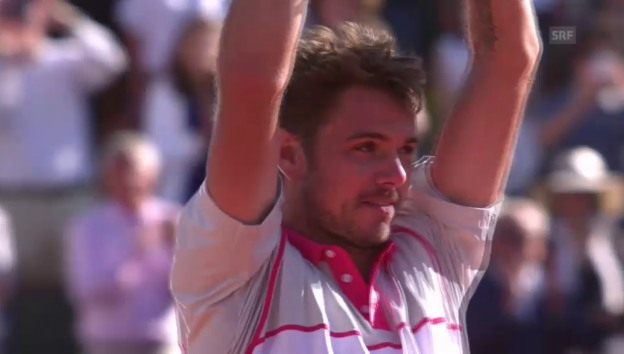 Video «So feiert Stan Wawrinka seinen French-Open-Sieg» abspielen