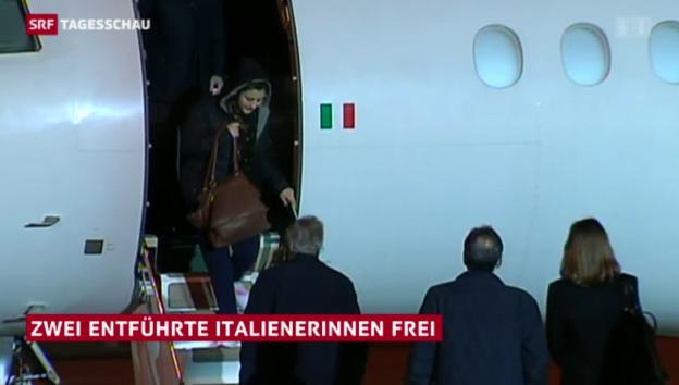 Video «Italienische Geiseln sind frei» abspielen