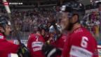 Video «Schweizer besiegen an der Eishockey-WM Deutschland» abspielen