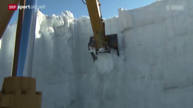 Video «Ski: Serie Trainingslager Zermatt, 3. Teil» abspielen