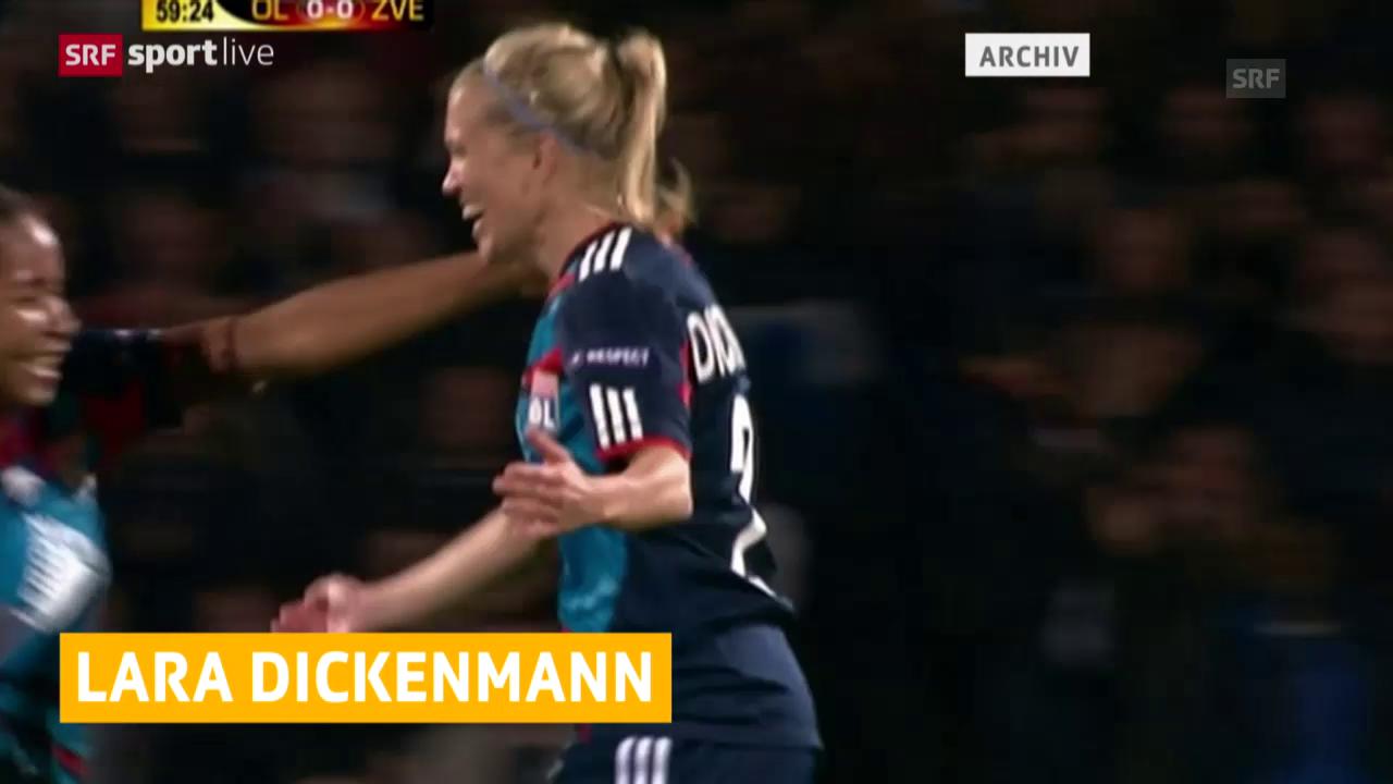 Fussball: Dickenmann wechselt von Lyon nach Wolfsburg