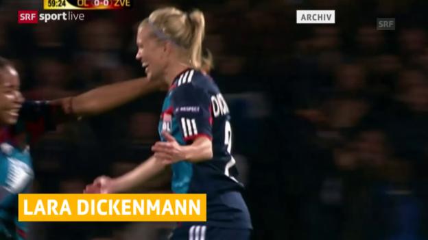 Video «Fussball: Dickenmann wechselt von Lyon nach Wolfsburg» abspielen
