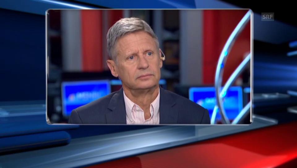 Gary Johnson: «Aleppo?»