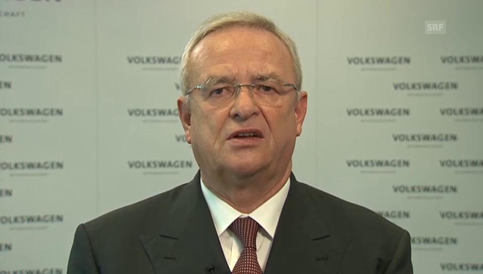 Die Entschuldigung von VW-Chef Winterkorn