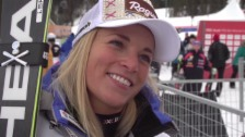 Video «Ski alpin: Super-G Frauen, Lake Louise, Interview mit Lara Gut» abspielen