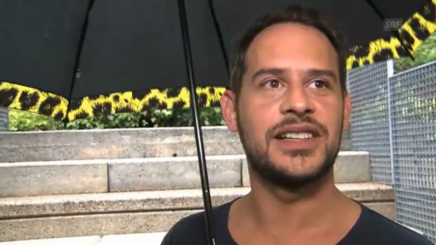 Video «Moritz Bleibtreu im Tessiner Regen» abspielen