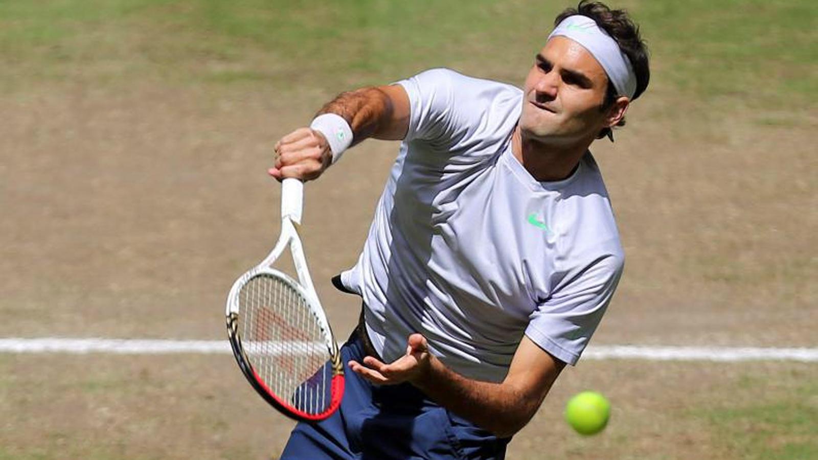Federer vor der Rasensaison (SRF 4 News, 10.6.14, Morgenbulletin)
