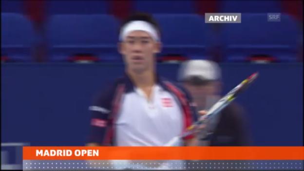 Video «Federer trifft auf Nishikori» abspielen