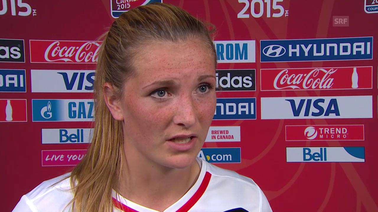 Fussball: Frauen-WM, Achtelfinal, Kanada - Schweiz, Interview Rachel Rinast
