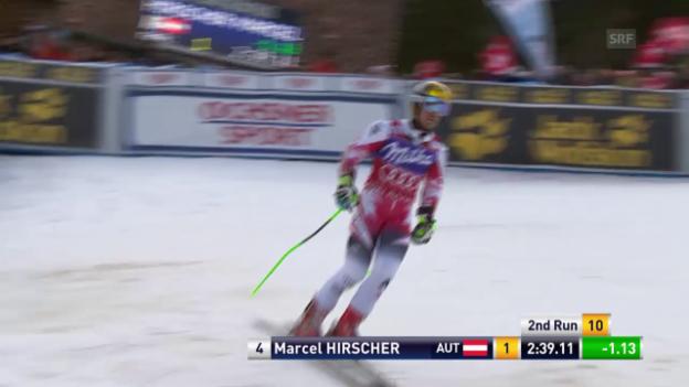 Video «Ski: RS Adelboden, 2. Lauf Hirscher» abspielen