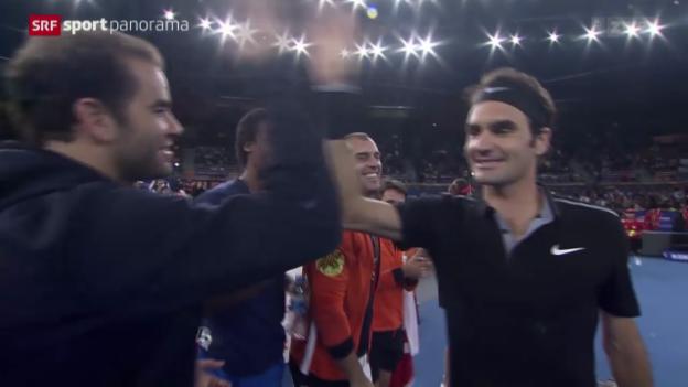 Video «Tennis: Roger Federer an neuer Turnierserie» abspielen