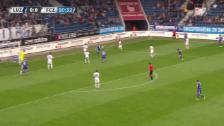 Video «Fussball: Super League, Luzern-Zürich, 1:0 durch Yesil» abspielen