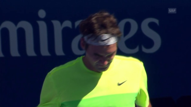 Video «Tennis: Australian Open, Live-Highlights bei Federer - Seppi» abspielen