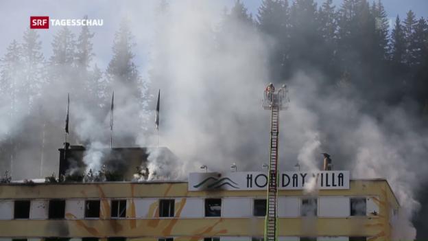 Video «Hotel-Brand in Arosa» abspielen