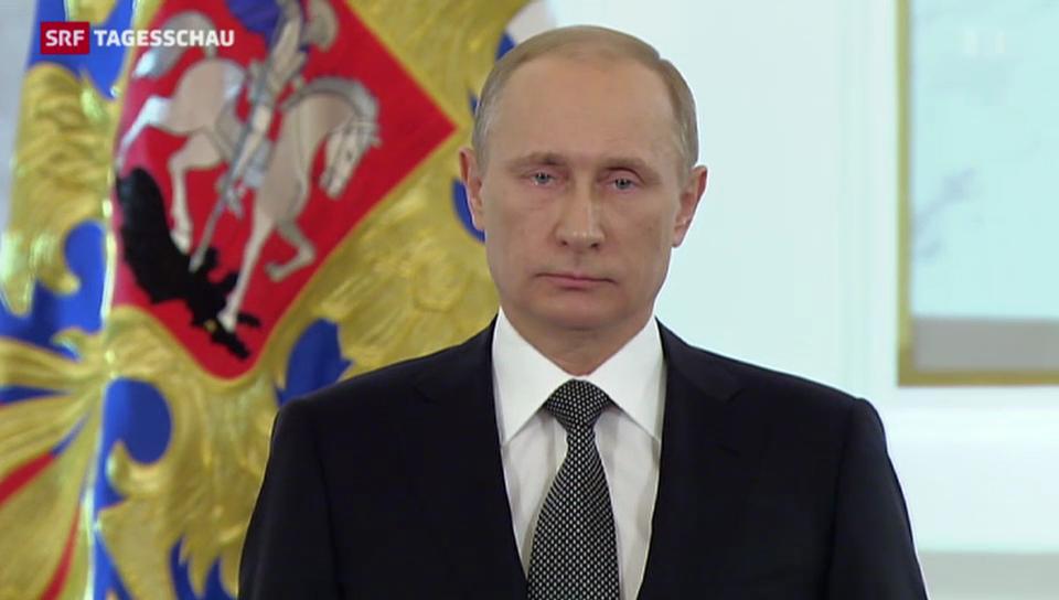 Putin gibt sich angriffslustig