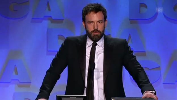 Video «Ben Affleck ist bei der DGA-Preisverleihung gerührt» abspielen