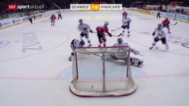 Video «Eishockey: Testspiel Männer, Schweiz-Finnland» abspielen