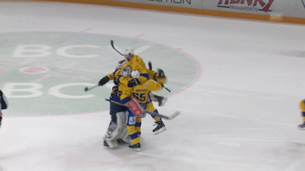 Video «HCD gewinnt Hockey-Thriller in Lausanne» abspielen