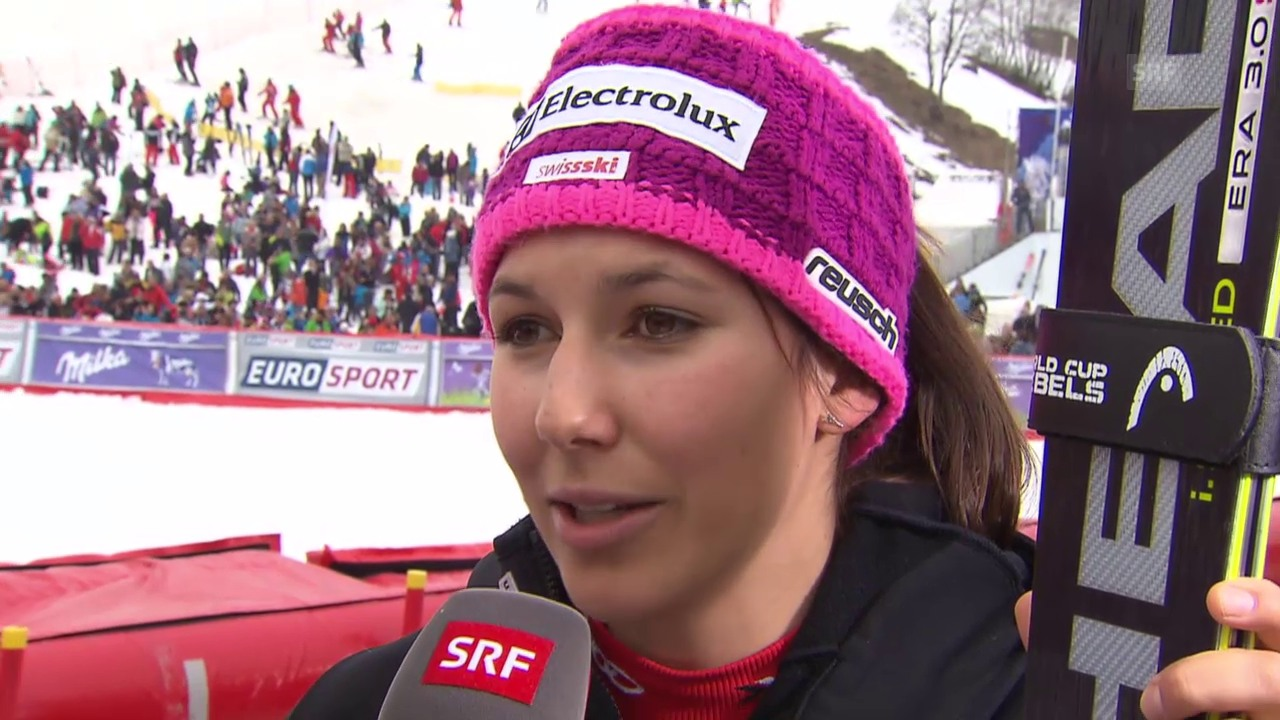 Ski: Slalom in Méribel, Interview mit Holdener