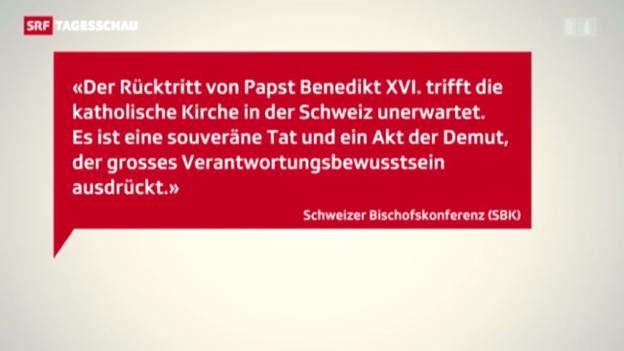 Video «Reaktionen auf den Rücktritt» abspielen
