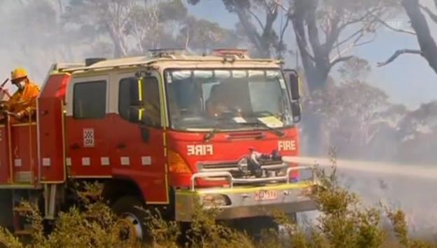 Video «Kampf gegen die Flammen in den Blue Mountains» abspielen