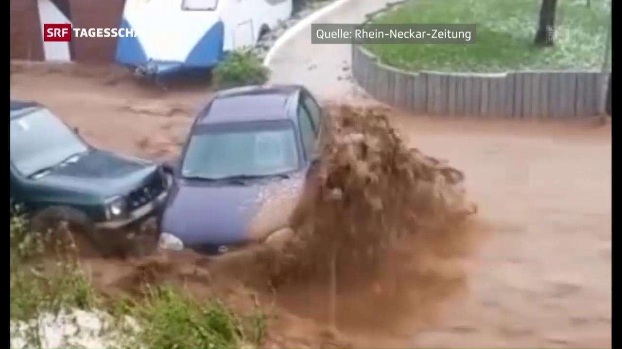 Unwetter und Hochwasser in Baden-Württemberg
