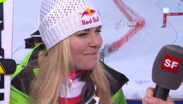 Super-G Frauen: Interview Lindsey Vonn («sportlive»)