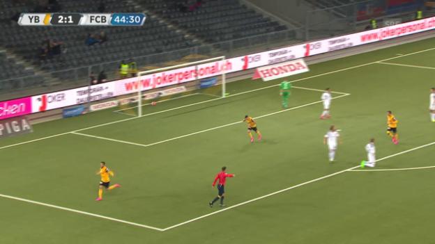 Video «Fussball: Super League, 9. Runde, die Tore bei YB - Basel» abspielen