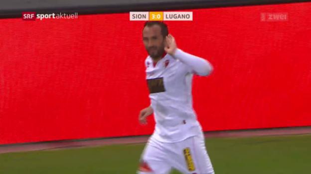 Video «Sion überrollt den FC Lugano» abspielen