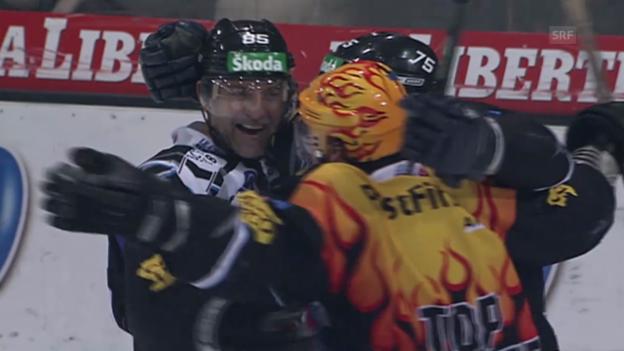 Video «Eishockey: 6. Viertelfinalspiel Fribourg - SC Bern («sportlive» 11.03.2008)» abspielen