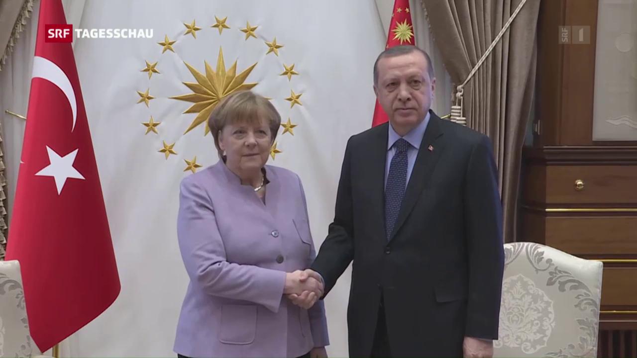 Deutsche Kanzlerin zu Besuch in der Türkei