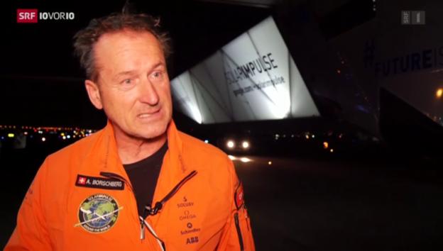 Video «Solar Impuls schon wieder am Boden» abspielen