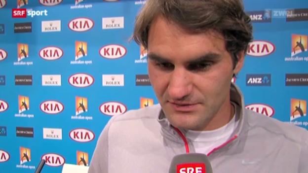 Video «Australian Open: Federer zu seinem Halbfinal-Out» abspielen