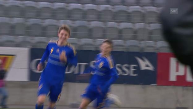 Video «U21-EM-Quali: Spielbericht Schweiz-Ukraine» abspielen