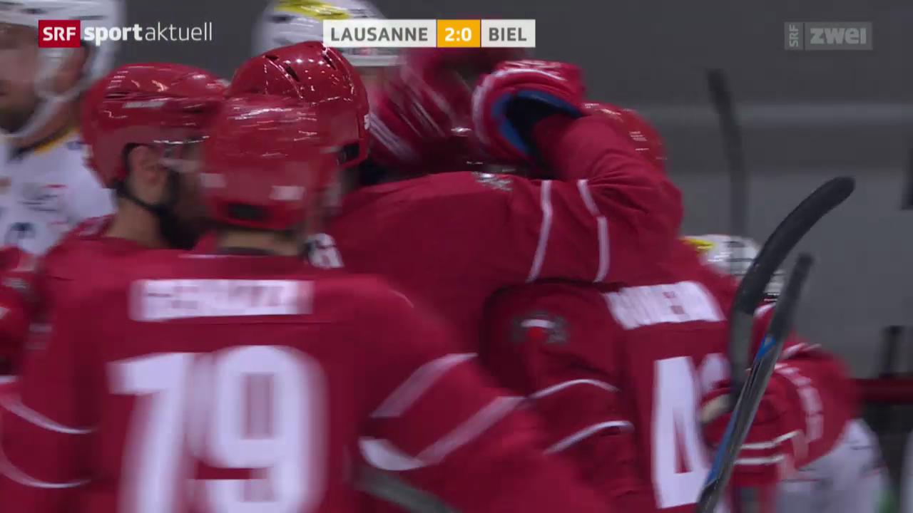Eishockey: NLA, HC Lausanne - EHC Biel