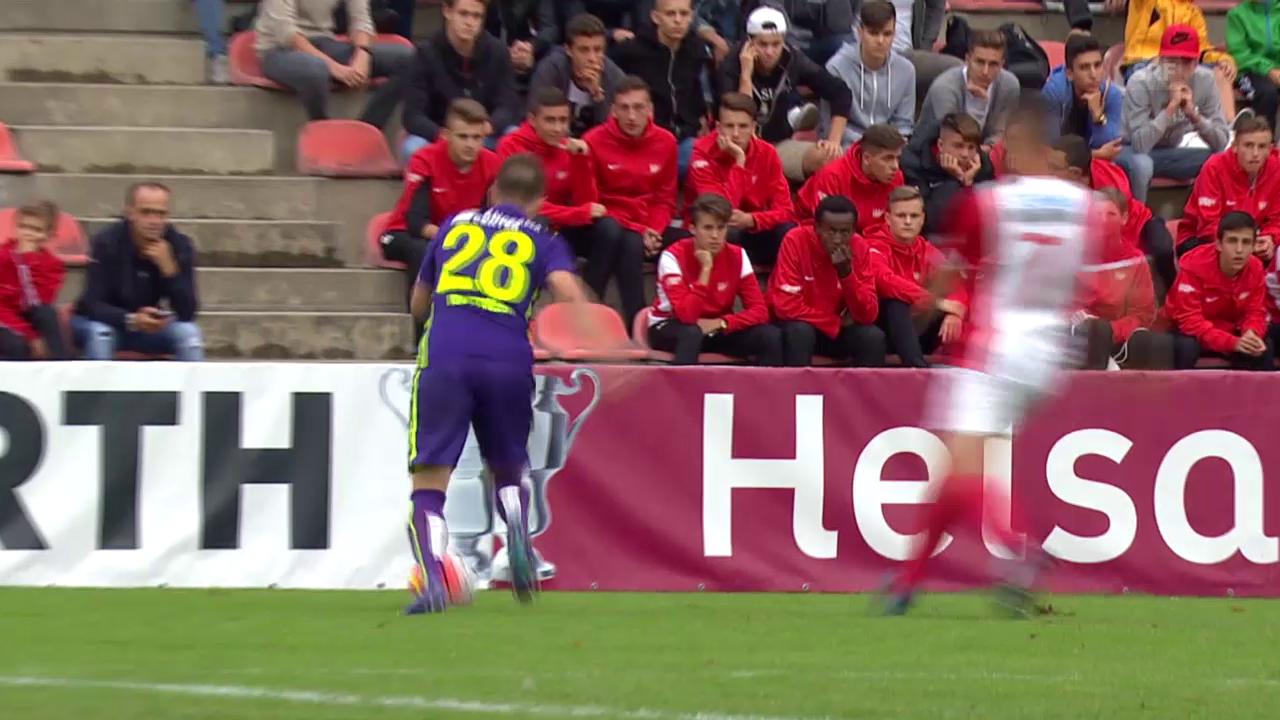 Fussball: Schweizer Cup, 1. Runde: Solothurn -Thun, Tor Frontino 1:0